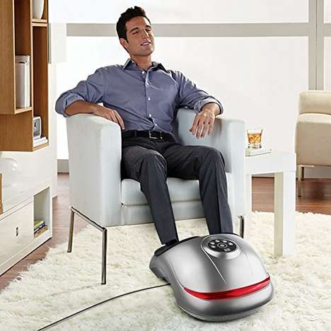 Heated Shiatsu Foot Massagers - The INTEY Foot Massager Reduces Inflammation, Fatigue and Pressure