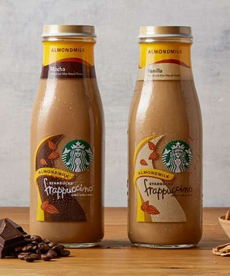 Prepackaged Almond Milk Drinks - The New Starbucks Almond Milk Beverages will Launch in 2018