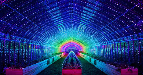 Digital Greenhouse Installations - 'Digital Vegetables' Created a Symphony of Light and Sound