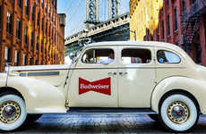 Vehicle-Based Vintage Beer Campaigns - Lyft and Budweiser are Promoting the 'Repeal Reserve' Lager