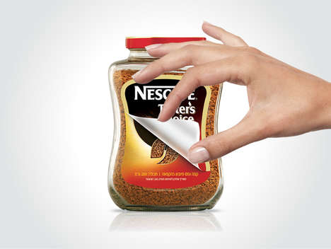 Two-in-One Coffee Labels - NESCAFÉ Taster's Choice Invites Consumers to Peel to Reveal a New Label