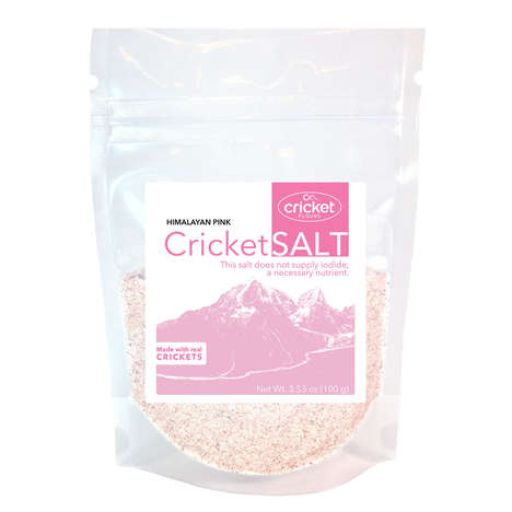Cricket-Infused Salt Seasonings - Cricket Flours' 'Cricket Salt' Blends Gourmet Salt and Crickets
