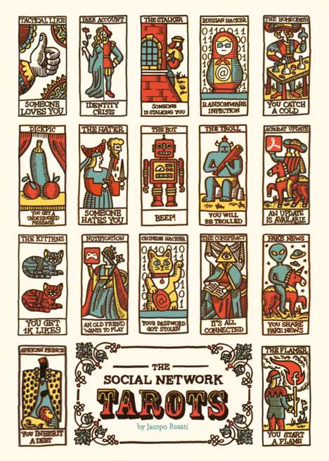 Social Media-Inspired Tarot Cards - Jacopo Rosati's Illustrated Modern Tarot Draws from the Internet