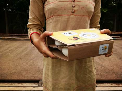 Simplistic Eco-Friendly Egg Cartons - Tanvi Chaurasia Created the 'Happy Hatch' Packaging Design