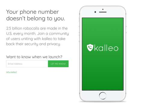Call-Blocking Security Apps - The 'kalleo' App Can Block Spam Calls to Keep Your Privacy
