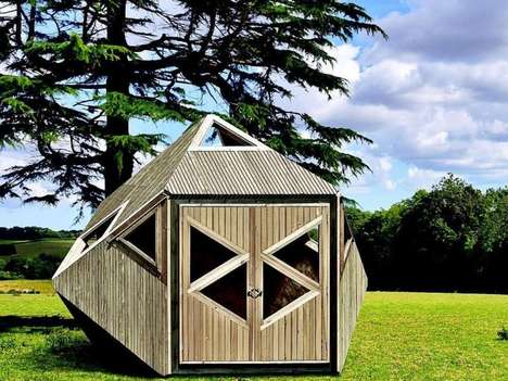 Flatpack Geometric Garden Sheds - The Tripod Garden Room Can be Used as an Outdoor Office Space