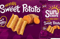 Seasonal Vegetable-Infused Chips - The Sun Chips Sweet Potato Flavor is Made with 100% Whole Grains