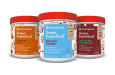 Seasonally Flavored Supplements - These Amazing Grass Green SuperFood Blends Taste Like the Holidays