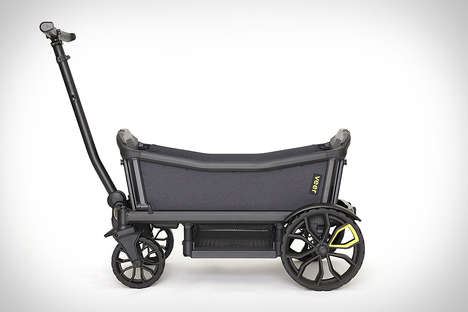 Collapsible Infant Wagons - The Veer Cruiser Premium Stroller Wagon Can be Stored in the Trunk
