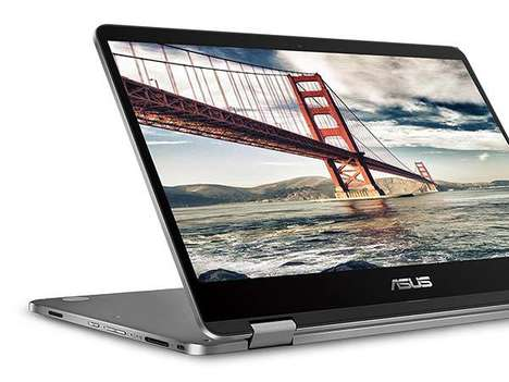 Entertainment Hub Laptops - The ASUS VivoBook Flip 14 Boasts an Expansive Touchscreen