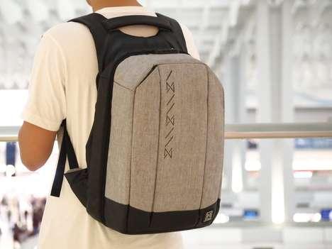 Camera-Accommodating Anti-Theft Backpacks