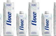 Prepackaged Canadian Alkaline Waters - The Flow Alkaline Spring Water is Packaged in Tetra Paks