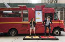 Kinetic Lunch Trucks - Shell Created an Eco Food Truck That Converts Footsteps into Energy