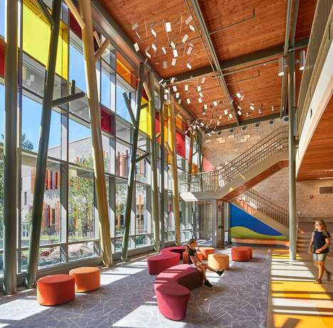 Secure School Redesigns - Svigals + Partners New Sandy Hook Elementary Accommodates for Trauma
