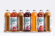 Bitten Juice Bottles - YAN's Juice Packaging is Inspired by a Bite Taken Out of an Apple