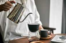 Enhanced Extraction Coffee Brewers - The 'JIA' Hand Drip Coffee Set Crafts Perfectly Simple Coffee