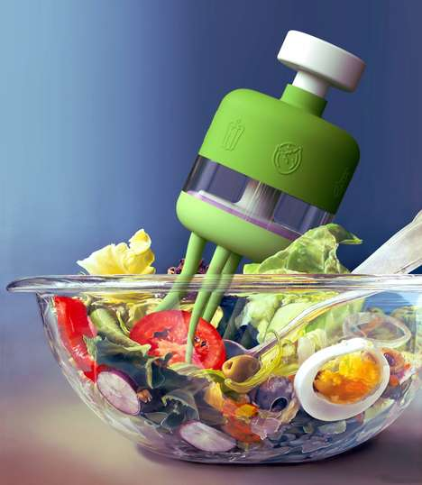 The 'Tada' Salad Tool Evenly Dispenses Dressing into Foods