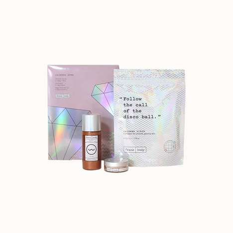 Shimmering Beauty Kits - Frank Body's Three-Piece Set Includes an Oil, an Illuminator and a Scrub