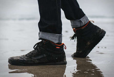 Weatherized Casual Footwear - The Vans + Finisterre Outdoor Shoes are Ready for an Adventure