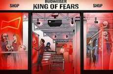 Haunted Clothing Shops - Budweiser's 'King of Fears' Store Doubles as a Haunted House