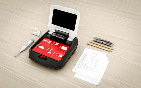 Touchscreen First Aid Kits - The RubrixAID Automated First Aid Kit Provides Instructions for Care