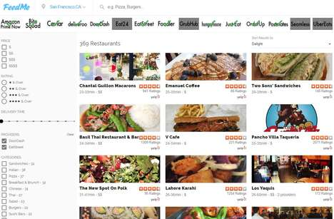 Delivery Service Aggregators - The FeedMe App Compares the Same Dishes on Dozens of Delivery Apps
