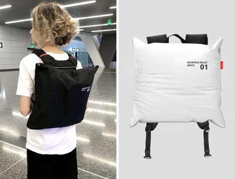 Inflating Pillow Knapsacks