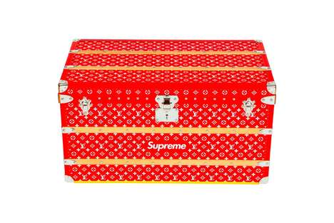 Collaborative Luxury Trunks - The SUP X LV 'Malle Courrier 90' Trunk Boasts Both Logos