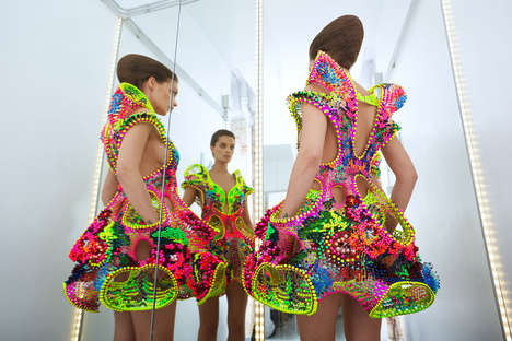 Sculptural Crystal Dresses - 'Foræva' is a High-Tech Swarovski Crystal Dress