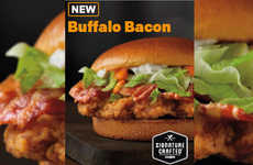 Saucy Buffalo Bacon Sandwiches