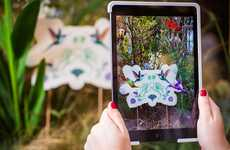Interactive AR Gardens - Perrier-Jouët Created a Fantastical, High-Tech Garden Installation