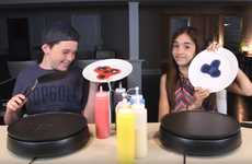 Pancake Art Games - Eh Bee Family's 'Pancake Art Challenge' is a Head-to-Head YouTube Bout