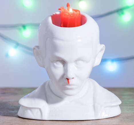 Sci-Fi Character Candle Holders - The Stranger Things Eleven Bleeding Nose Candle Holder is Artistic