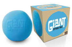 Modern Oversized Stress Balls - The Giant Stress Ball Requires Two Hands to be Used