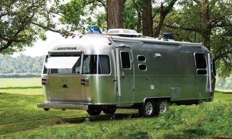 European-Styled Trailers - The Airstream Globetrotter Has Luxury Amenities for Comfy Living