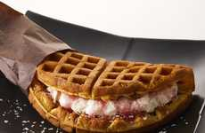 Sakura Waffle Sandwiches - Tully's Coffee Japan Makes a Sweet Waffle Sandwich with a Fluffy Filling