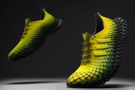 3D-Printed Latticed Sole Sneakers - The Adidas Grit Prevents Fatigue and Supports the Foot