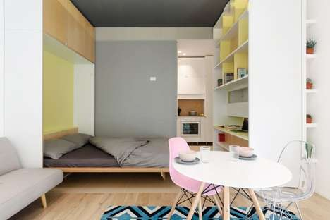 Mini All-in-One Apartments - The 'Taac' Micro Apartment is a Living Space, Office and More