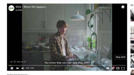 Uneventful Pre-Roll Ads - IKEA's 'Irresistible Pointless TrueView Ads' Feature Little Action