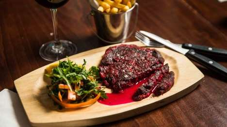 "Bleeding Vegan Steaks - Moo Cantina and Deliveroo Created a Plant-based Steak That ""Bleeds"""