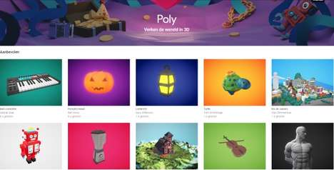 3D Model Libraries - Google 'Poly' is a Free 3D AR and VR Object Library for Developers