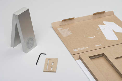 Flat-Pack Design Trophies - This NZIA Design Trophy Was Created for the Recipient to Assemble