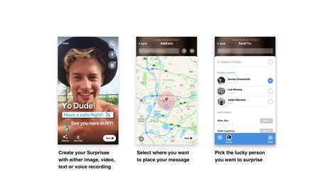 Hyperlocal Messaging Apps - 'Surprisee' Allows Users to Pin Content to Specific Places