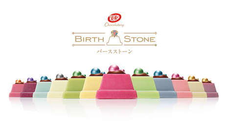 "Gemstone-Themed Chocolates - KitKat Unveiled a Luxurious Collection of ""Edible Birthstones"""