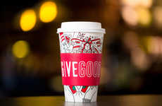 Festive Color-In Coffee Cups - This Year's Starbucks Holiday Red Cup Features a Customizable Design