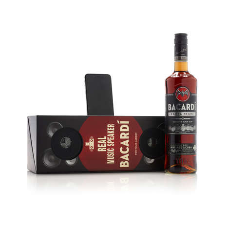 Boombox Bottle Packaging - Bacardi's Rum Bottle Packaging Doubles as a 'Real Music Speaker'