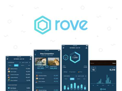 Social Competition Exercise Apps - 'Rove' is a Step Tracking Platform for Competitions and more