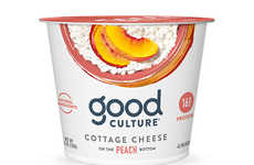 Peach-Infused Cottage Cheese Cups - Good Culture's Cottage Cheese Features Fruit on the Bottom