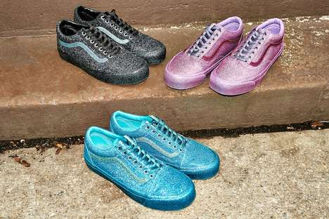 Colorful Glittery Sneakers
