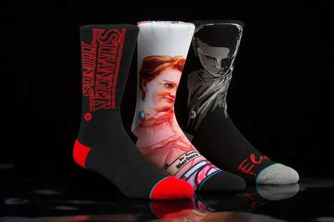 Sci-Fi Series Socks - Stance's Stranger Things Socks Feature a Barb and Eleven Design